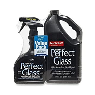 Hope's Perfect Glass Cleaner, 2 Piece, 32 Oz. Spray Bottle and 67.6 Oz. Refill Bottle
