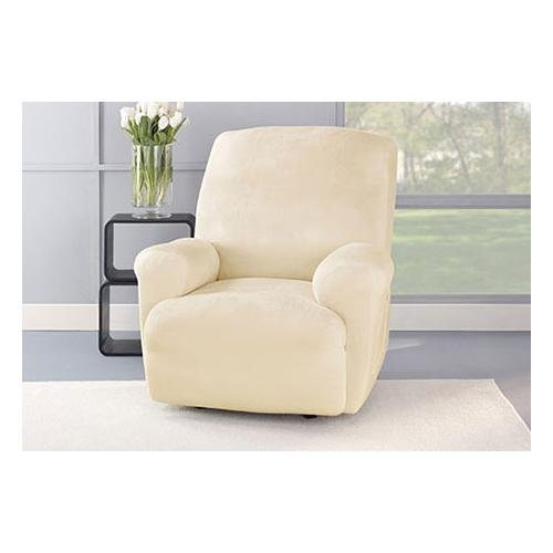 Sure Fit Stretch Plush 1-Piece Recliner Slipcover by Surefit