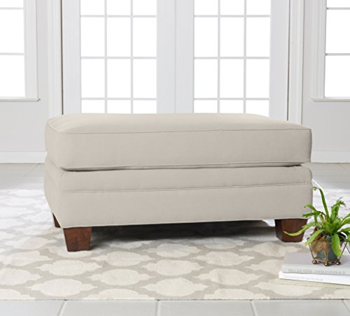 """Klaussner Home Furnishings Paxton Accent Ottoman, 27""""L x 42""""W x 21""""H, Sand For Sale"""