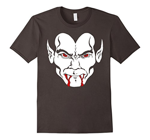 Halloween Dracula Bloody Vampire Teeth Face Graphic T-Shirt