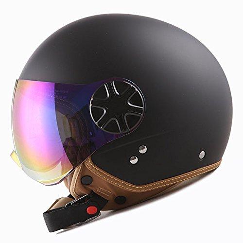 1STORM MOTORCYCLE SCOOTER BIKE OPEN FACE/HALF FACE HELMET CLASSIC MATT (Classic Helmet)