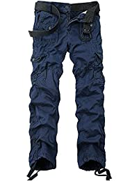 Men's Cotton Washed Multi Pockets Military Cargo Pant