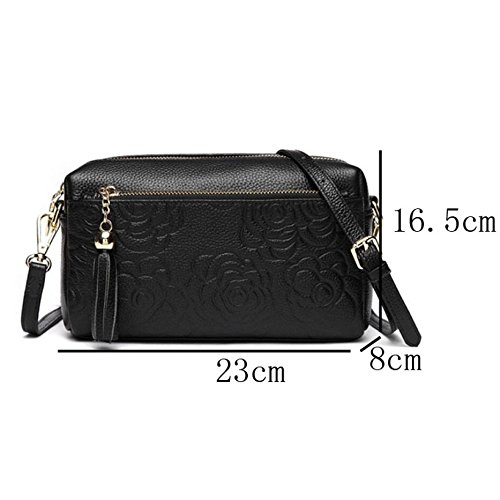 Small Messenger Ajlbt Casual Bag Women Fashion Bag Square Black OSTqdwT