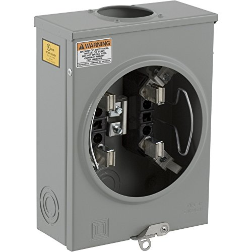 Square D by Schneider Electric UHTRS101B 125A Ringless Overhead/Underground Meter Socket With Horn - Socket Meter D Square