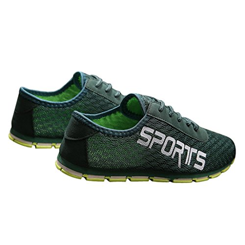 Caro Tempo Mans Estate Maglia Scarpe Slip On Super Cool Sport Colorized Green
