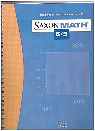 Saxon Math 6 5 Teacher S Manual Volume 2 Stephen Hake