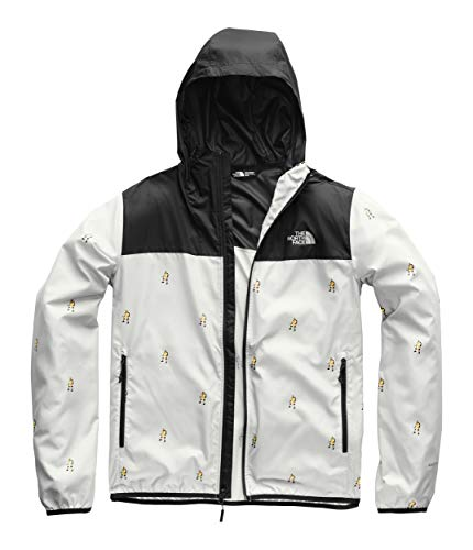 (The North Face Men's Printed Cyclone Hoodie, High Rise Grey Him Suit Print/TNF Black, Size L)