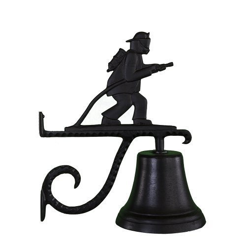 Montague Metal Products Cast Bell with Black Fireman by Montague Metal Products