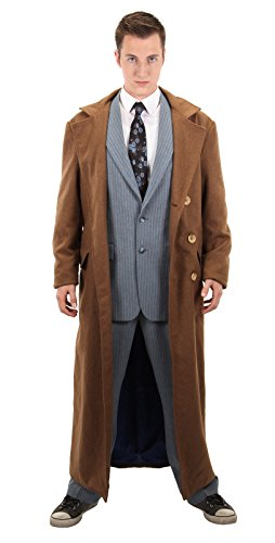 [Elope mens Doctor Who 10th Doctor Coat Large/X-Large] (Tenth Doctor Costume)