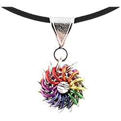Weave Got Maille Rainbow Whirlybird Chain Maille Necklace Kit, That's How I Roll