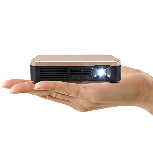 Amaz-Play-Mobile-Pico-Projector-Portable-Mini-Pocket-Size-Multimedia-Video-LED-Gaming-Projectors-with-120-Display-120-Minute-Battery-Life-20000-Hour-LED-Color-Gold