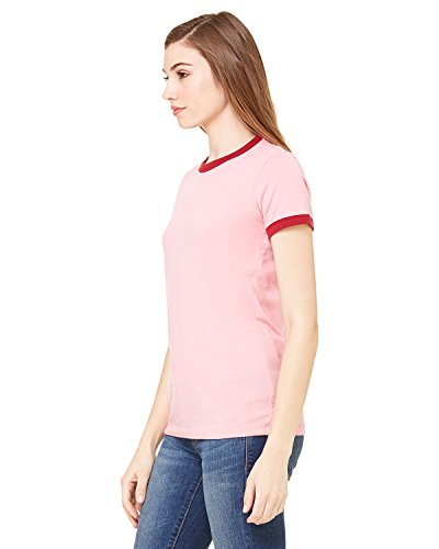 Bella + Canvas Ladies Short-Sleeve Ringer T-Shirt, XL, HTHR (Wholesale Ringer T-shirts)