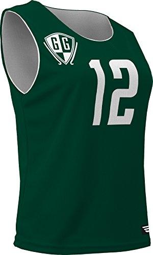 - AP-896W-CB Women's Athletic Mesh Poly Round Neck Sleeveless Reversible Jersey (Medium, Forest Green)