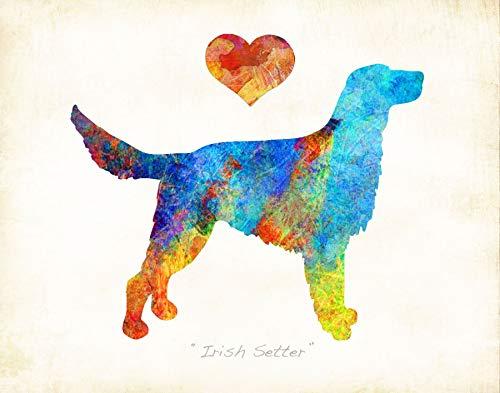 (IRISH SETTER Dog Breed Watercolor Art Print by Dan Morris)