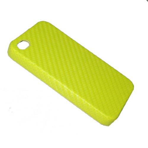 iPhone 4 / Cas 4S: Mesh Style Design peau durant Housse de protection pour Apple iPhone 4 / 4S - jaune