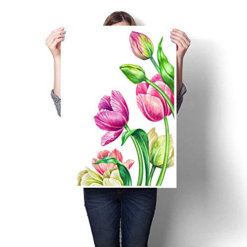- Modern Canvas Painting Wall Art watercolor illustration botanical art fresh spring tulips floral background beautiful bouquet of wild flowers woman s day festive greeting card mother s day wallpaper