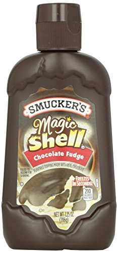 - Smucker's, Magic Shell, Ice Cream Topping, Chocolate Fudge, 7.25oz Bottle (Pack of 3)