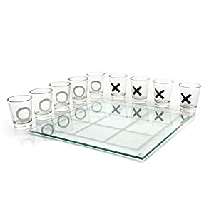 Classic Tic Tac Toe Glass Drinking Game X and O
