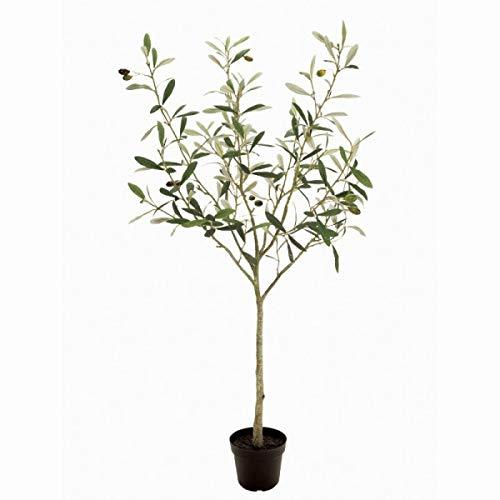 人工観葉植物 オリーブポット実付き3F 高さ90cm fg1789 (代引き不可) インテリアグリーン 造花 B07SW9WHY2
