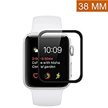 Apple Watch 38mm Screen Protector (Series 2) [Full Coverage] Asstar Anti-Bubble, Ultra-Thin Ultra HD Premium Tempered Glass Screen Protector For Apple Watch 2 38mm (1 pack)