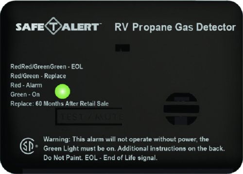 RV Trailer Camper Lp Gas Mini Lp Gas Detector Sm Black SAFE T ALERT 20-441-P-BL - Camper Lp