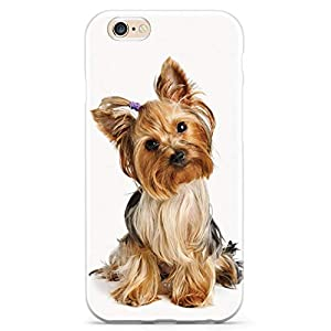 Inspired Cases - 3D Textured iPhone 6 Plus/6s Plus Case - Rubber Bumper Cover - Protective Phone Case for Apple iPhone 6 Plus/6s Plus - Yorkshire Terrier with Bow 1