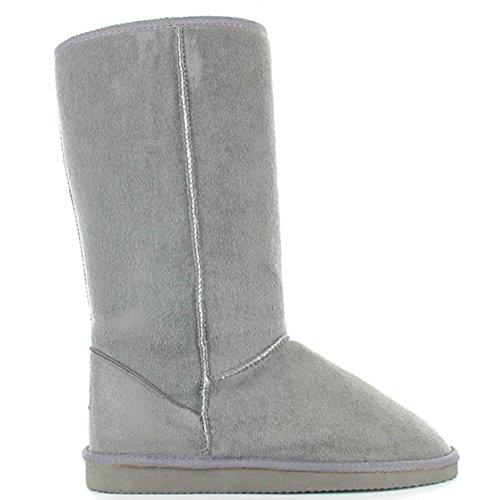 Botas 5 Imitación Invierno 35 Gris Para Shoes Piel A Ella Tallas La De Cálidas 42 fw5Tpn1q