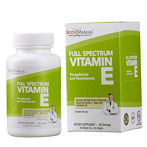 Dr. Eric Huntington's Full Spectrum Vitamin E - Softgels (2-Month Supply), Natural Antioxidant Helps Protects Against Free Radicals - Full Spectrum Antioxidant