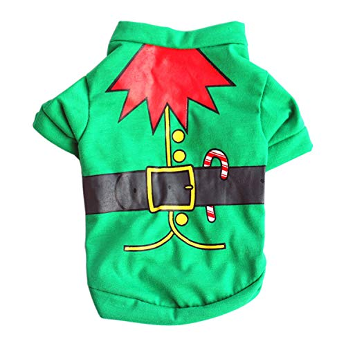 Pet Dog Clothes Christmas Costume Cute Cartoon Clothes Small Dog Cloth Costume Dress Xmas Apparel Kitty Dogs (Singapore Cartoon Costume)