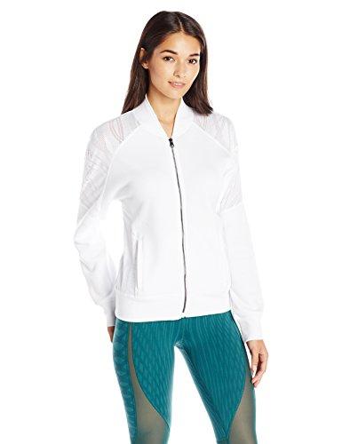 Alo Yoga Women's Tempt Jacket, White, Large by Alo Yoga