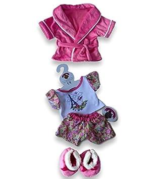 4b9e49811e3 Build Your Bears Wardrobe Teddy Bear Clothes fits Build a Bear Teddies  Candy ROBE Paris PJs