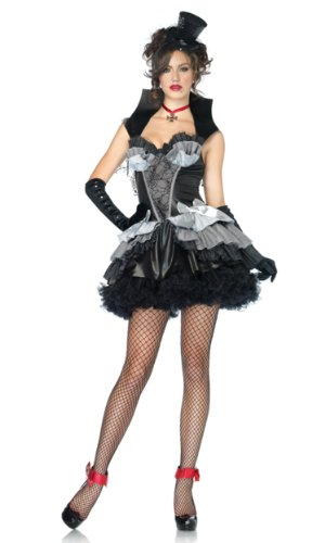 Leg Avenue Women's Queen Of Darkness Costume, Black/Gray, Medium