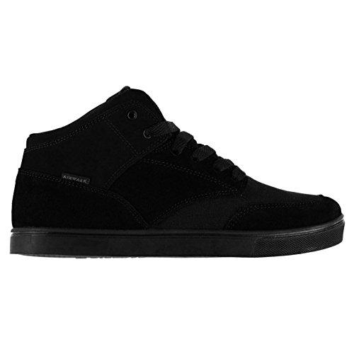 Airwalk Breaker Mid Júnior Chicos Skate Zapatos Zapatillas Casual Calzado Negro