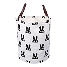 Canvas Storage Bag Basket Organizers 40×50cm Laundry Basket Storage Bag For Kids Toys Baby Clothing Children Books Gift Baskets, 8 Patterns ( Color : #6 Rabbit )