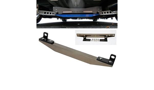 For 2006-2011 Honda Civic 4DR Front Lower Gunmetal Aluminum Tie Brace Strut Bar