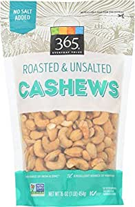 365 Everyday Value, Cashews, Roasted & Unsalted, 16 oz