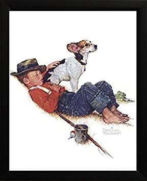 Image Size Adventurers Between Adventures by Norman Rockwell A Boy and His Dog Series 11x14 11x14 Overall Size
