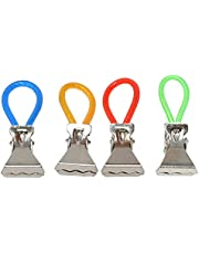 Hanging Metal Towel Clips   Set of 4 - by Home-X