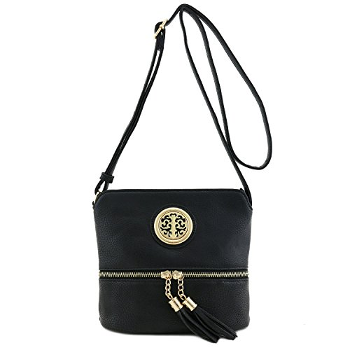 with Black Bag Small Emblem Crossbody Accent Tassel qxwSTZ6Z