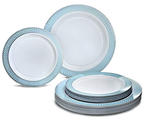 """ OCCASIONS"" 50 Plates Pack (25 Guests) - Wedding Party Disposable Pla"