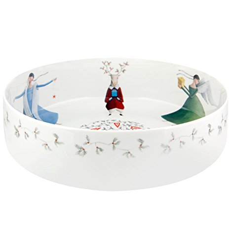 VISTA ALEGRE - ANGELS (Ref # 21115126) Porcelain Salad Bowl by Teresa Lima by Unknown