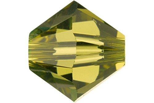 (40 pcs Swarovski Crystal Bicone 5301/5328 Beads, Khaki, 4mm)
