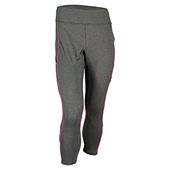 Fila Women's Spirit Pocket 3/4 Capri 2XS, Ebony/Pink