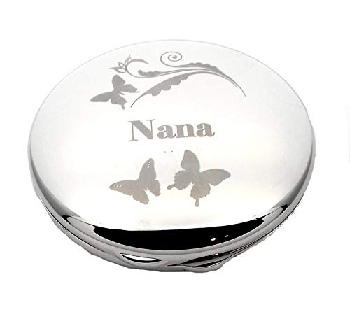 NANA Butterflies and Swirl COMPACT MIRROR for my Gifts Presents Gift Idea...