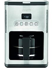 Krups KM442D Premium filterkaffebryggare, 10–15 koppar, 1 000 W, programmerbar, rostfritt stål/svart