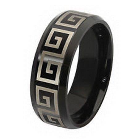 - jacob alex ring Fashion Stainless steel Ring Size 13 Band Titanium Lady/Men's Black Engagement