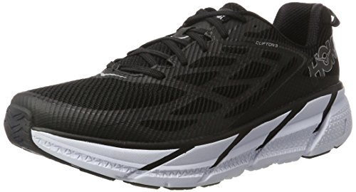 Hoka One One Clifton 3 Running Shoes - Men's Black/Anthracite 8