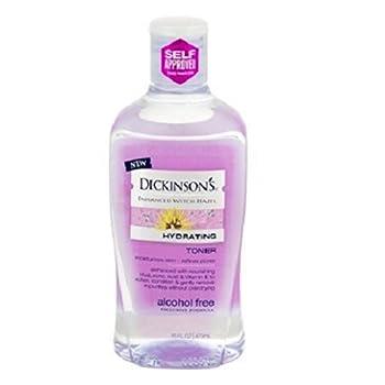 Dickinson's Enhanced Witch Hazel Hydrating Toner, Alcohol Free, 16oz. Per Bottle