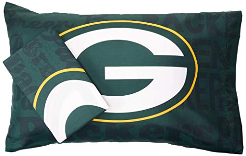 The Northwest Company NFL Bay Packers Anthem Pillowcase Set Anthem Pillowcase Set, Green, One Size