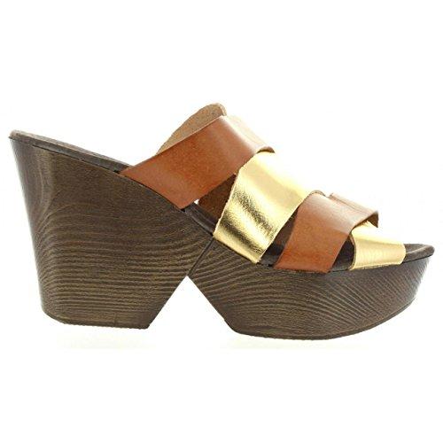 Sandali per Donna MARIA MARE 65892 MADERA-LAMINA ORO
